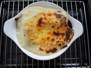 Crespolini - pancakes stuffed with spinach and ricotta